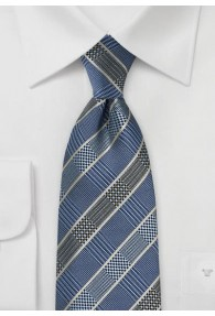 Krawatte ungewöhnliches Karo-Dessin taubenblau
