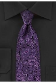 Perfekte Krawatte Paisley violett schwarz