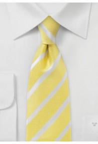 Streifen-Krawatte goldgelb strukturiert