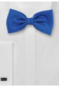 Herrenschleife Kunstfaser blau