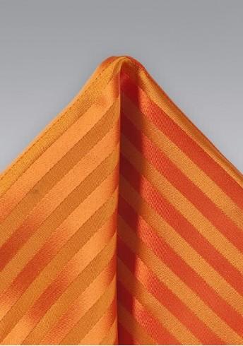 Ziertuch orange Streifenmuster