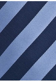 Kinder-Krawatte blau hellblau Streifenmuster