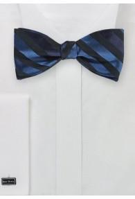 Streifendessin-Herrenschleife schwarz navy