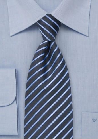 Streifenmuster-Krawatte für Kinder dunkelblau taubenblau