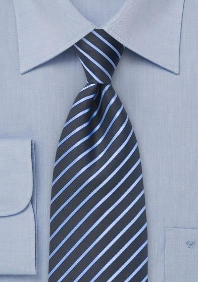 Streifenmuster-Krawatte für Kinder dunkelblau