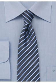 Schmale Streifenmuster-Krawatte dunkelblau...