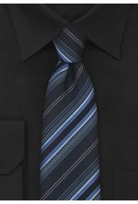 XXL-Krawatte Streifen blau schwarz