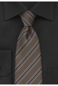 XXL-Herrenkrawatte braun Streifendesign