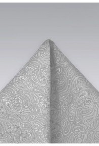 Einstecktuch Paisleys grau
