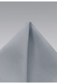 Ziertuch monochrom grau Seide