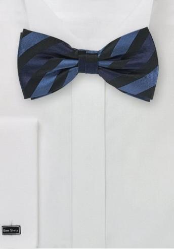 Linien-Herren-Schleife tiefschwarz blau