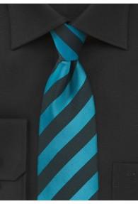 Krawatte Streifendesign petrol schwarz