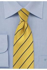 Krawatte Business-Linien gelb navy