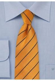 Krawatte Business-Linien orange dunkelblau