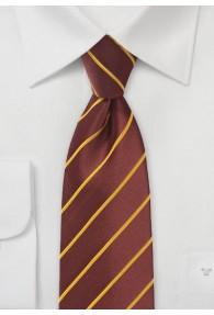 Krawatte Business-Streifen rotbraun gelb