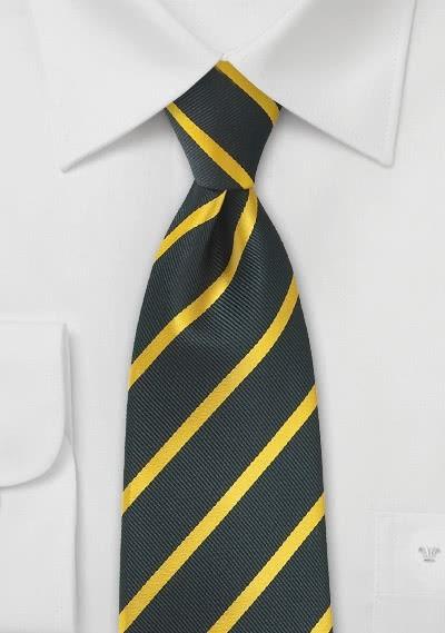 Kravatte Streifendesign schwarz gelb