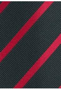 Kravatte Streifendessin schwarz rot