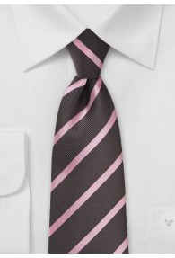 Krawatte Streifendessin kaffeebraun rosa