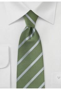 Krawatte Streifendesign olivgrün grau