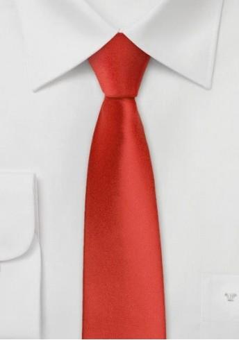 Krawatte schmal unifarben hellrot