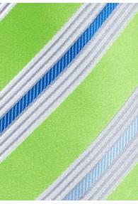 Krawatte Multi-Linien giftgrün