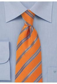 Kravatte Streifendesign orange