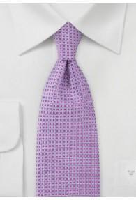 Businesskrawatte Netz-Muster flieder magenta