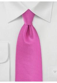 Krawatte einfarbig strukturiert magenta
