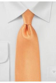 Krawatte einfarbig Struktur orange