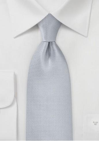 Businesskrawatte einfarbig Struktur silber