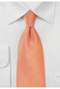 Krawatte Gitter-Struktur lachs