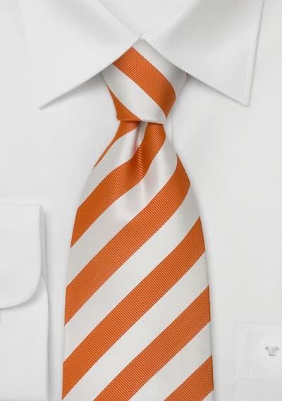 Businesskrawatte Clip orange