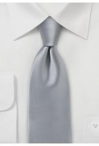 Krawatte einfarbig Mikrofaser silber