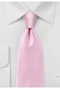 Kravatte einfarbig Poly-Faser rosé