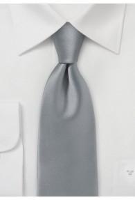 Krawatte monochrom Mikrofaser grau