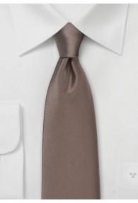 Krawatte unifarben Kunstfaser zwetschge