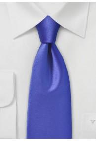 Krawatte unifarben Mikrofaser royal