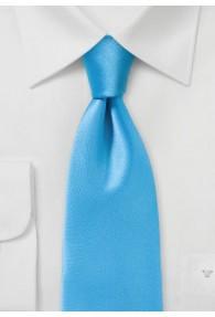 Krawatte unifarben Kunstfaser cyan