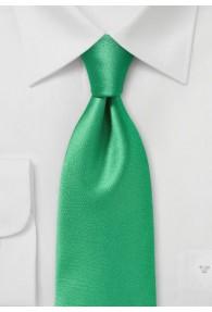 Businesskrawatte monochrom Poly-Faser grün