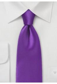 Businesskrawatte einfarbig Kunstfaser lila