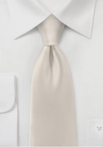 Krawatte monochrom Poly-Faser elfenbein