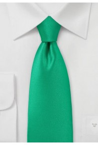 Krawatte monochrom Kunstfaser türkis