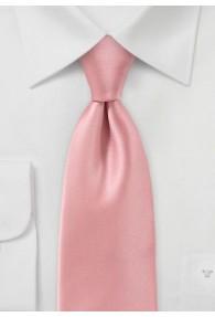 Krawatte italienische Mikrofaser rose