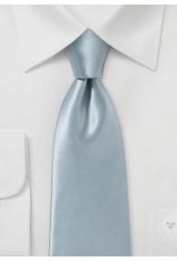Krawatte italienische Seide grau einfarbig