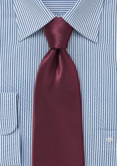 Krawatte italienische Seide weinrot monochrom