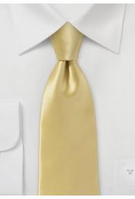 Kravatte italienische Seide gold unifarben