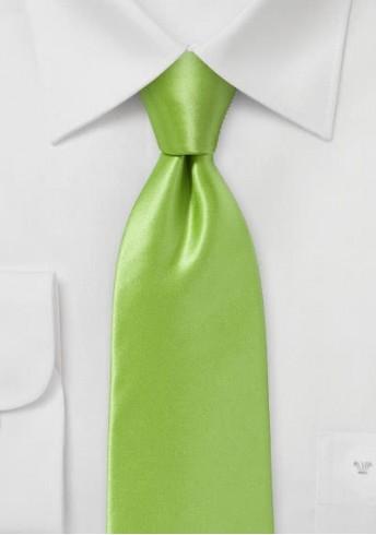 Businesskrawatte italienische Seide apfelgrün einfarbig