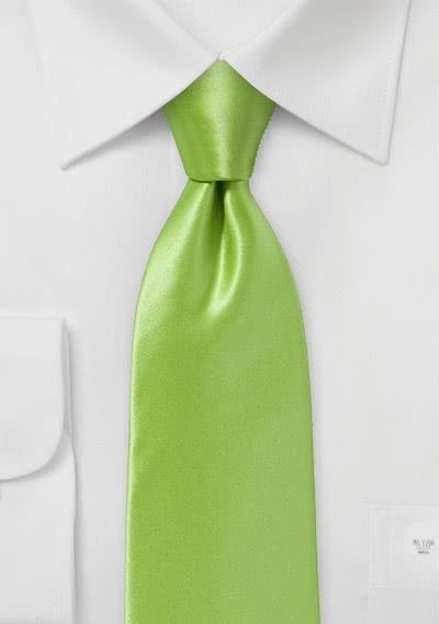 Businesskrawatte italienische Seide apfelgrün