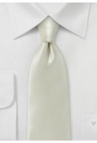 Krawatte italienische Seide creme monochrom