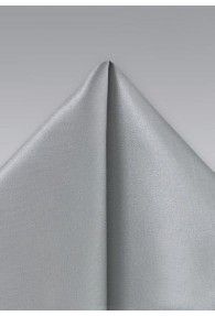 Kavaliertuch italienische Seide unifarben silber